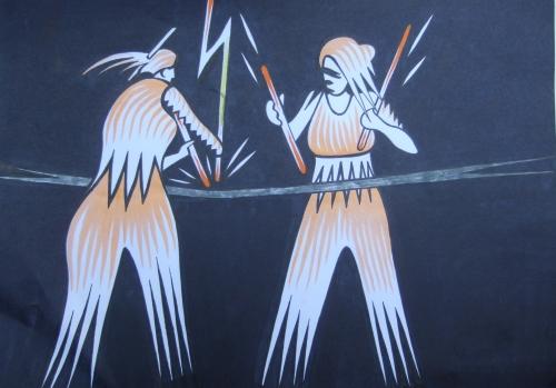 Die Ttukunak-Schwestern, gezeichnet von Ralf Wasselowski
