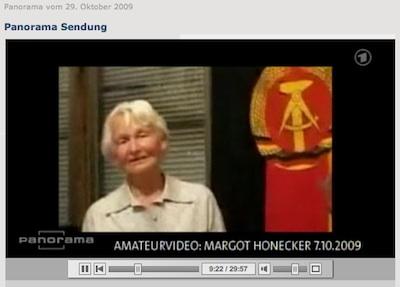 Margot Honecker im Internet-Video (bei Panorama, ARD)