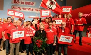 Hannelore Kraft beim SPD-Landesparteitag im Februar 2010