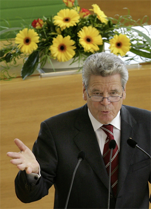 Joachim Gauck Foto: Matthias Hiekel