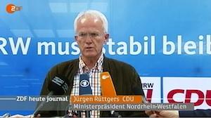 Jürgen Rüttgers (CDU) betont lässig