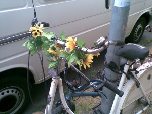 Blumen für den Sieger