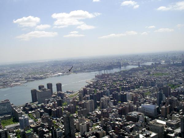 Blick von Manhattan über den East River nach Brooklyn Williamsburg 1985 (eigenes Foto)