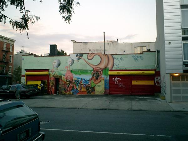 Graffiti in den 80ger Jahren im Latinoviertel von Williamsburg (eigenes Foto)