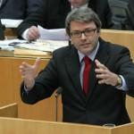 So sehen Verlierer aus_ Marc Jan Eumann, Staatssekretär im Ministerium für Bundesangelegenheiten, Europa und Medien Foto: Landtag NRW