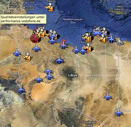 Proteste und Militäreinsätze in Libyen
