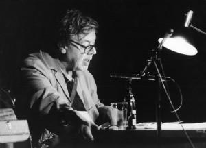 Erich Fried im Juni 1988 im Theater an der Ruhr, Mülheim