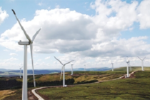Windpark Bowbeat, in Großbritannien  Quelle: E.ON UK