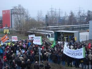 Protest gegen das Kraftwerk Datteln. Foto: Robin Patzwaldt