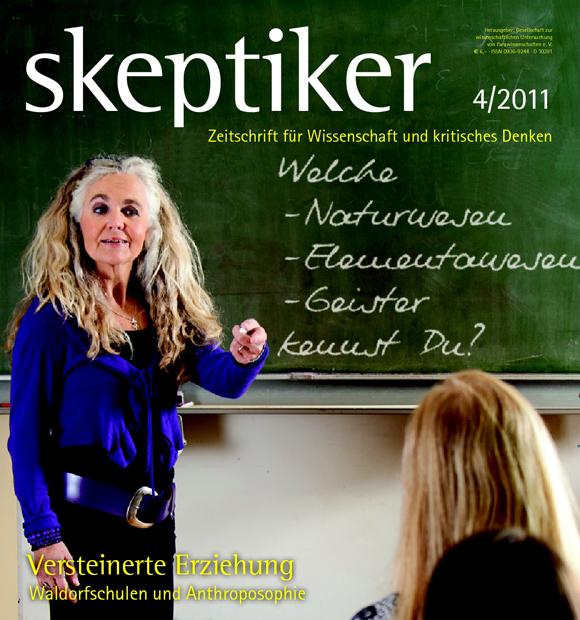 """Cover der Ausgabe 4/2011 des Magazins """"Skeptiker"""" (Ausschnitt)"""