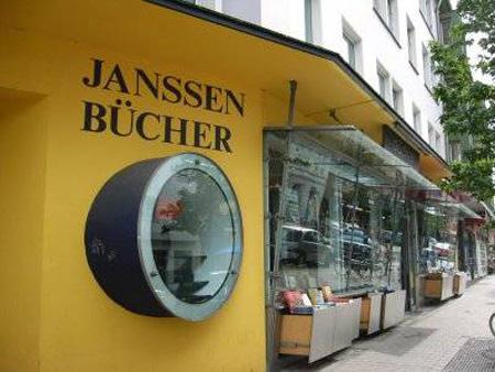 Die Buchhandlung Janssen in der Brüderstraße