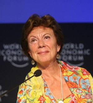 EU-Medienkommissarin Neelie Kroes Foto: World Economic Forum Lizenz:  CC