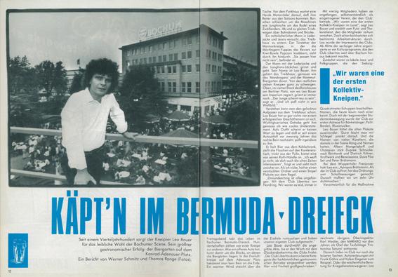 Ausschnitt mit Foto aus dem Artikel aus dem Marabo vom Juli 1988 // Quelle: Marabo