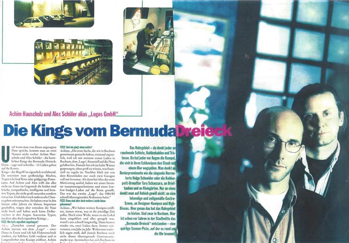 Artikelausschnitt mit Foto aus dem Fizzz vom September 1995 // Quelle: Fizzz