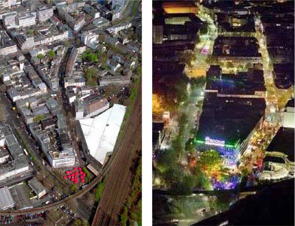 Luftfotos des städtebaulichen Dreiecks