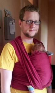 Der Autor des Artikels mit seinem Sohn.