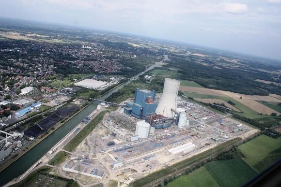 Das Kraftwerk 'Datteln 4'. Foto: Dieter Wirdeier