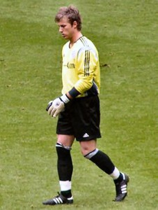Michael Rensing, hier noch im Bayern-Trikot. Quelle: Wikipedia; Foto: Horge; Lizenz: CC