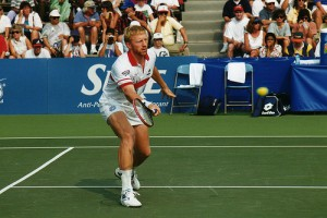 Im Tennissport war Boris Becker ein As, Quelle: Wikipedia; Foto: James Phelps; Lizenz: