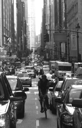 Messenger Biker in Midtown während der Rush Hour (alle folgenden Fotos: A. Voss)