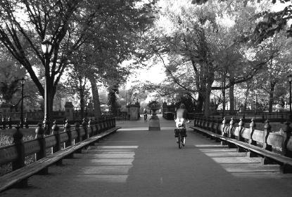 Biker im Central Park