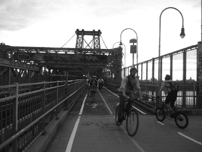 Radweg über die Williamsburg Bridge