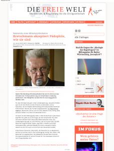 Kretschmann akzeptiert Pädophile, wie sie sind FreieWelt.net beschnitten