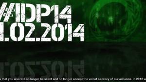 Anonymous setzt sich weiter gegen Überwachung ein. #idp2014
