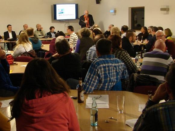 Die Gründungsveranstaltung vom 'Aktionsbündnis gegen Datteln 4'. Foto(s): Robin Patzwaldt