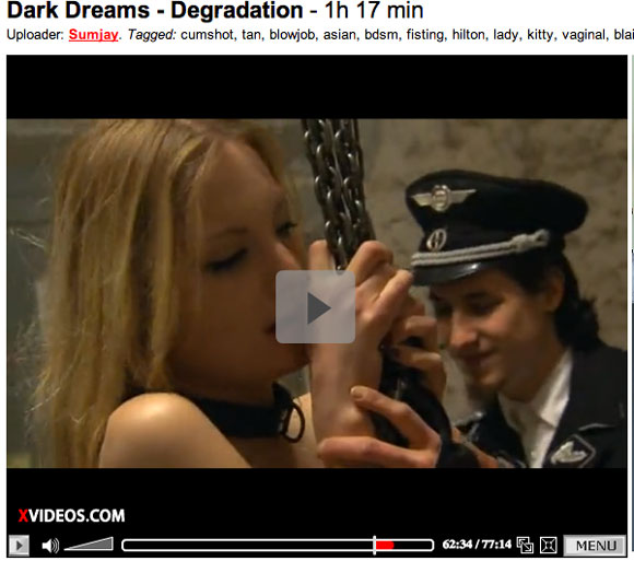 Ina Groll (Links) alias Kitty Blair  in der Magma-Produktion Dark Dream Degradation