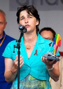 NRW-Gesundheitsministerin Barbara Steffens (Grüne) beim Blütenfest Award