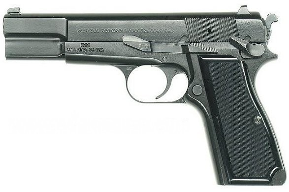 Browing (Quelle: Wikipedia,http://commons.wikimedia.org/wiki/File:Pistol_Browning_SFS.jpg)