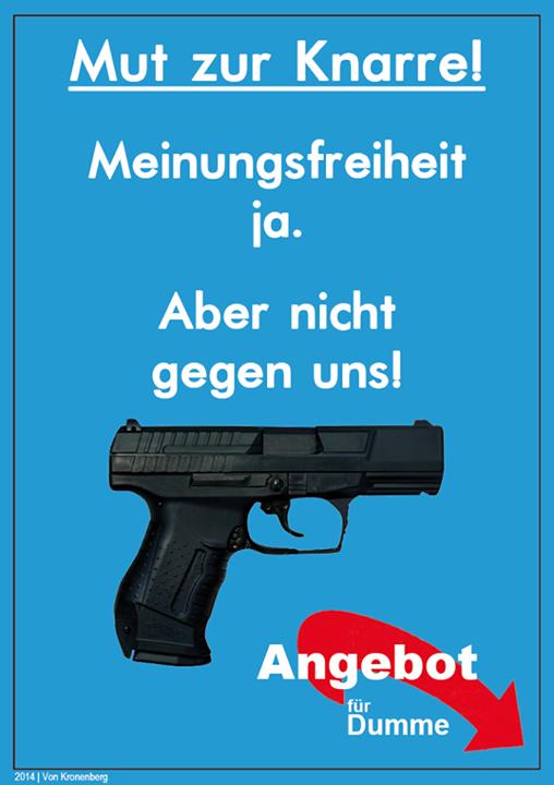 Ad-Busting eines AfD Plakats (Quelle: https://www.facebook.com/vonKronenberg?fref=photo)