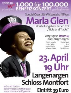 Das Plakat zu Marla Glens Konzert (Quelle: wissenschafftplus.de)