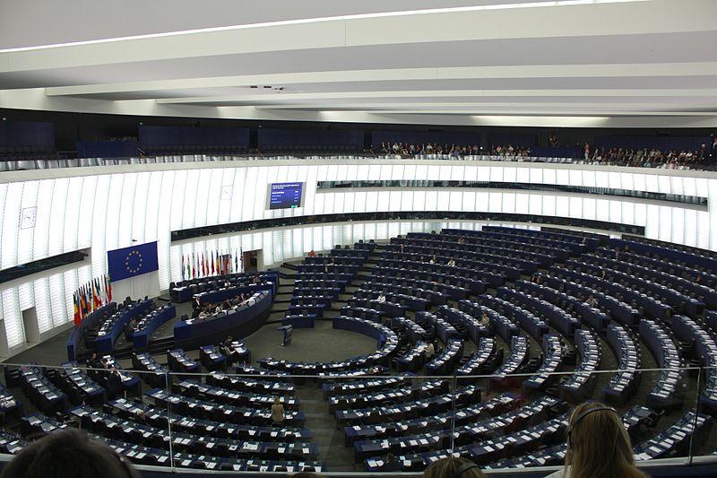 Plenarsaal des Europaparlaments (Quelle: Wikipedia)