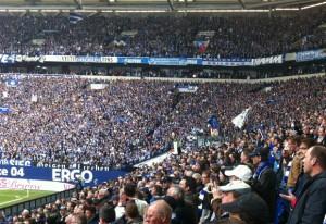 In der Arena auf Schalke. Foto: Michael Kamps