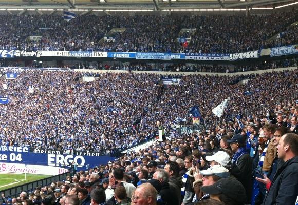 Der 1. FC Nürnberg stieg gestern 'auf Schalke' ab. Foto: Michael Kamps