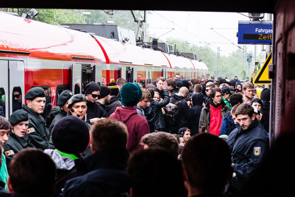 Blockade des S-Bahnhofs Westerfilde