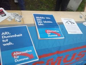 Protest gegen die AfD in Wattenscheid.