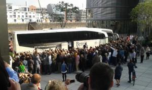 Kurz vor der Abfahrt in Düsseldorf. Foto: Sylvia Heimes