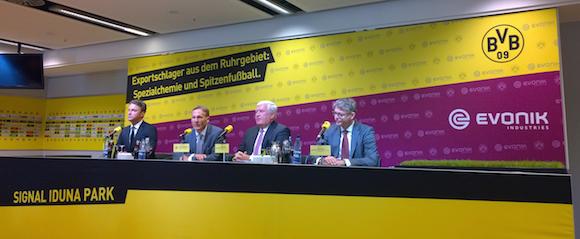 Pressekonferenz von Borussia Dortmund und Evonik