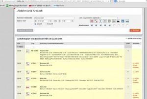 Screenshot: Bahn Verspätungen