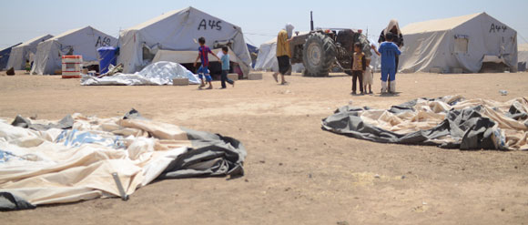 irakisches IDP-Camp in Kurdistan