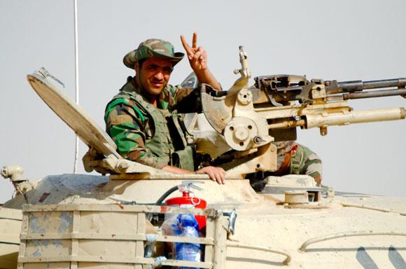 Peshmerga an der Front
