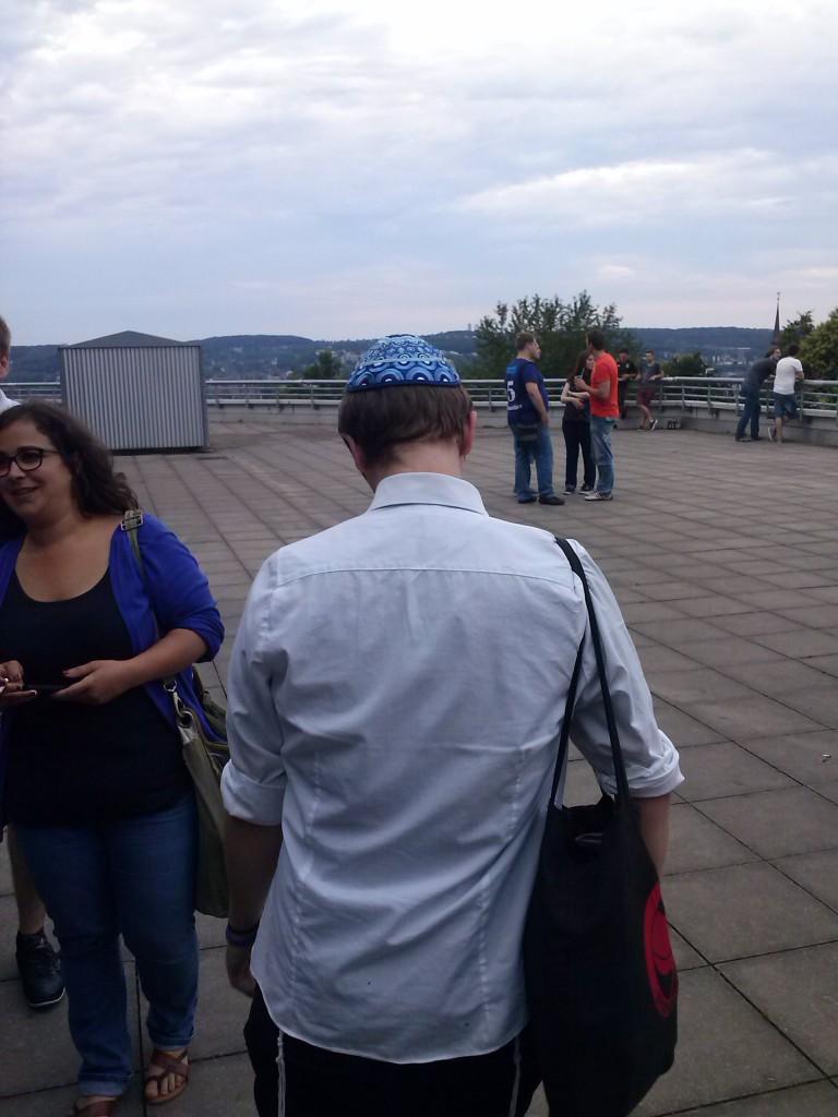 Eine der Angegriffenen am AStA der Uni Wuppertal