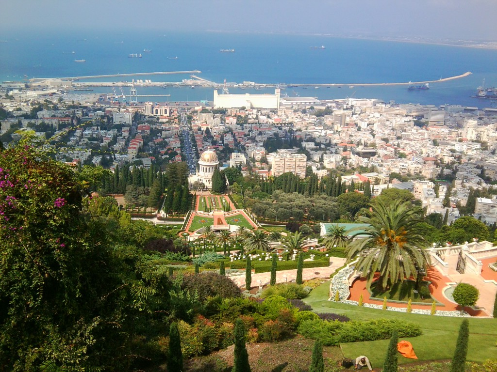 """Sieht so Apartheid aus? Der """"Schrein des Bab"""" der in islamischen Ländern verfolgten Bahai in Haifa, Israel."""