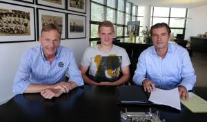 Ein 5-Jahres-Vertrag bis 2019 wurde unterzeichnet. Foto: BVB