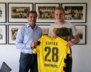Matthias Ginter bekommt in Dortmund die Rückennummer 28. Foto: BVB