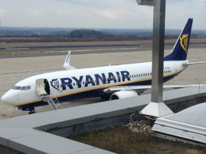 Ryanair-Maschine auf dem Dortmunder Flughafen (Foto:Westerhoff)