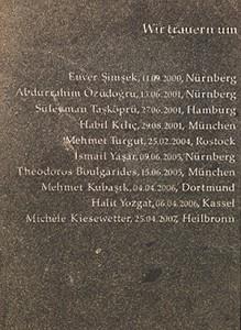 Gedenkstein für die NSU-Opfer in Dortmund Foto: 2014, Ulrike Märkel